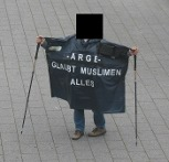 einsamer Demonstrant